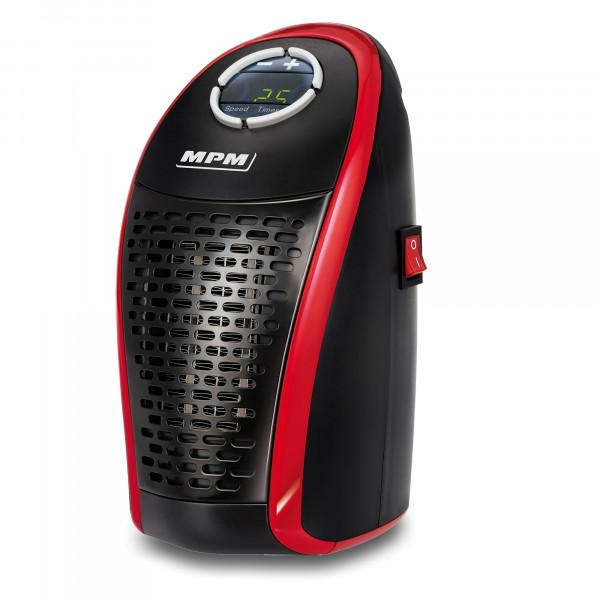 MPM MUG-18 Mini Calefactor portátil cerámico sin cable, regulador de temperatura 15-32ºC digital para un bajo consumo, 450W