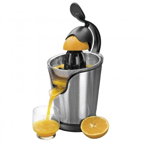 MPM MWC-04M Exprimidor eléctrico de palanca para zumo naranja, motor potente, 2 conos, acero inoxidable, 85W