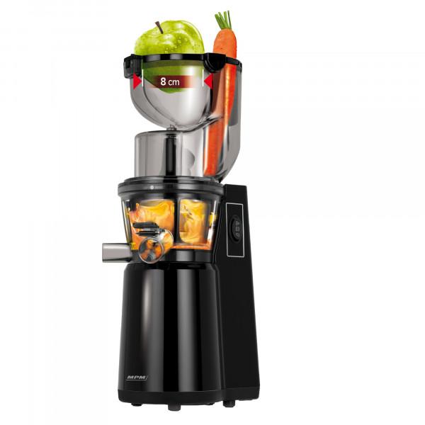 MPM MSO-16 Licuadora prensado en frío para verduras y frutas, baja velocidad 60RPM, Slow Juicer, 2 tamaños de malla función inversa, 200W