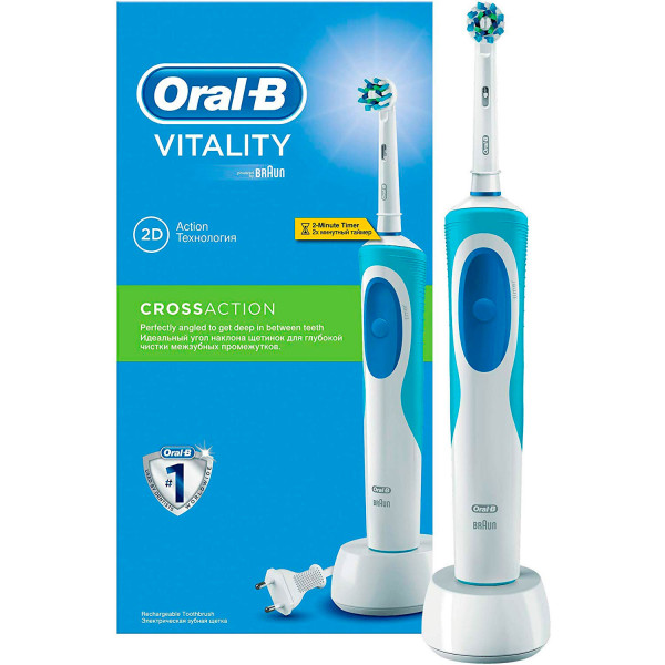 Oral-B Vitality Crossaction - Cepillo de Dientes Eléctrico Recargable con Tecnología Braun