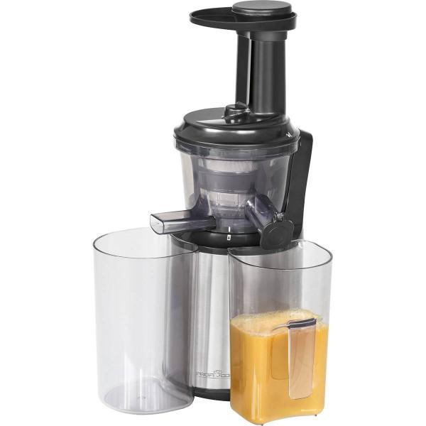 Proficook SJ 1141 - Licuadora de prensado en frio para frutas y verduras, motor silencioso de 150W, sistema antigoteo