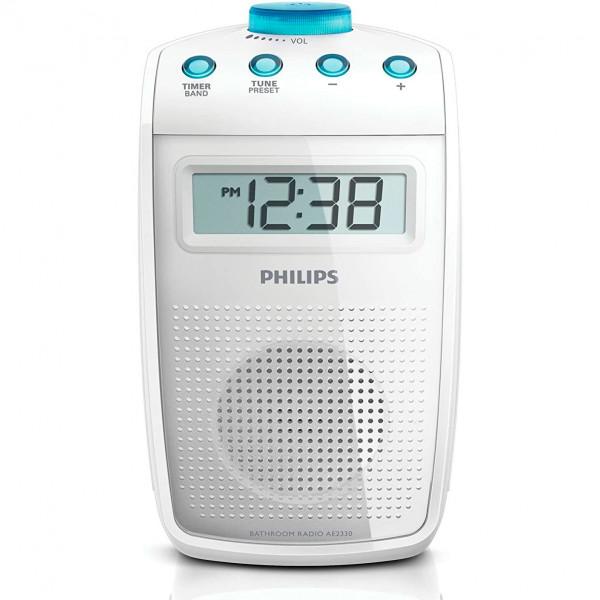 Philips AE2330/00 Radio de Ducha (Antideslizante y Resistente a Salpicaduras, sintonizador Digital FM)