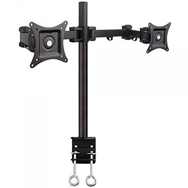 """SBOX LCD-352-2 Soporte de Sobremesa 2 Pantallas de 33-69cm (13""""-31"""") de hasta 10 kg por Monitor, Inclinación de hasta 15°, Peso Neto 4,7 kg, Posición Ajustable, Negro"""