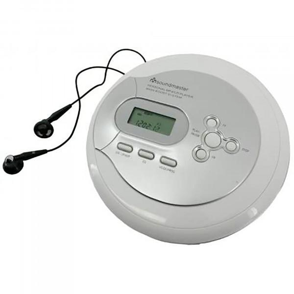 Soundmaster CD9180 Discman, Reproductor CD, CD-R, CD-RW, CD-MP3, Auriculares, Pantalla LCD, Red/Baterías, Blanco