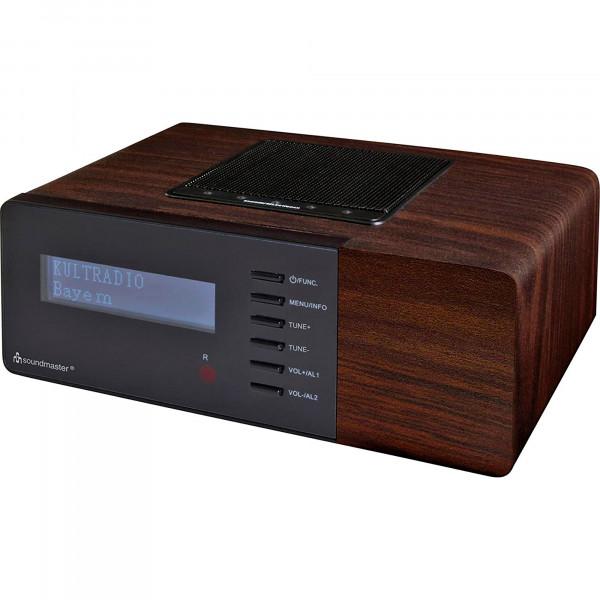Soundmaster UR180DBR Radio DAB+/FM, Digital, PLL, Reloj, 2 Alarmas Programables, Pantalla LCD, Marrón