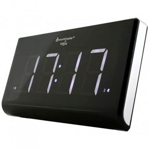 Soundmaster UR8400 Radio FM/DAB Portátil, Despertador Jumbo, 2 Alarmas, Altavoces incorporados, Negro
