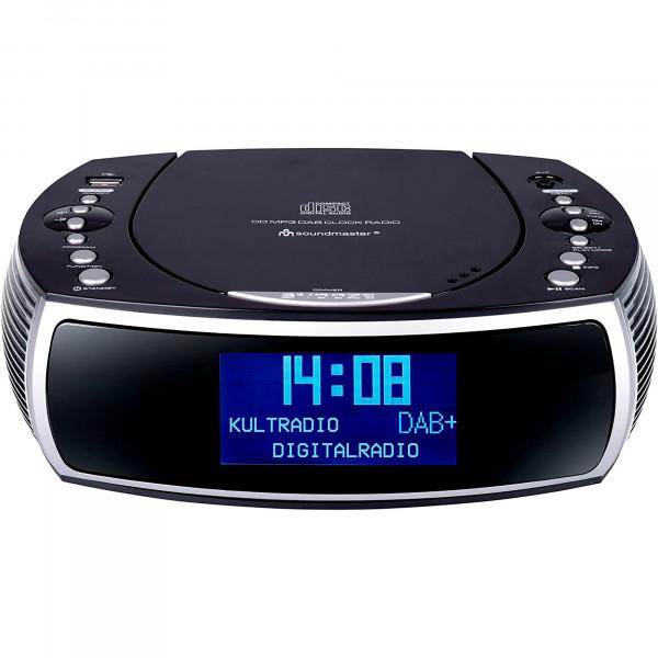 Soundmaster URD470SW Radio Despertador Portátil DAB/DAB +/FM, Reproductor CD-MP3, USB, AUX-IN, Sintonizador Pll, Negro