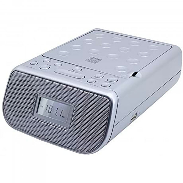 Soundmaster URD860SI Radio FM, Despertador, Reproductor CD, CD/MP3, CD-R/CD-RW, USB, 2 Alarmas programables, Pantalla LCD, Color Plata