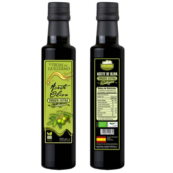 Trjual Aceite de Oliva Virgen Extra Ecológico Bio Variedad Arbequina Picual 250ml