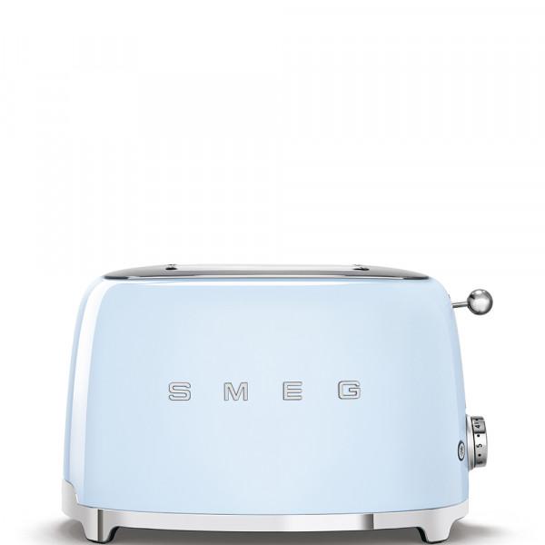 Smeg TSF01PBEU Tostadora 2 rebanadas, 6 niveles de tostado, 2x2 50' Style Azul, 950W