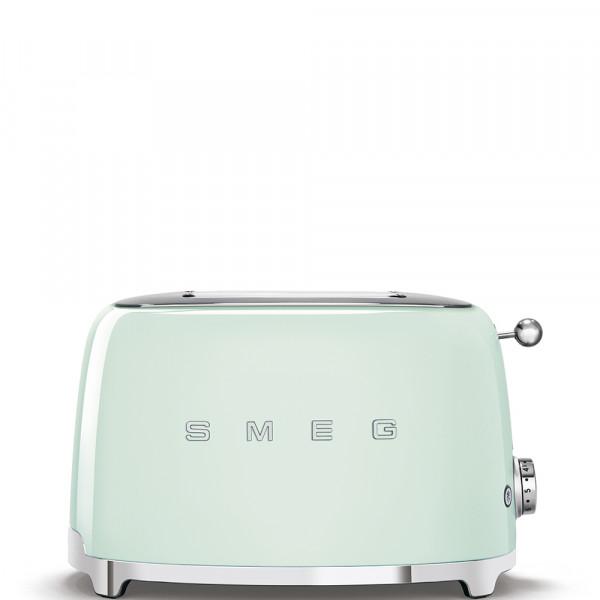 Smeg TSF01PGEU Tostadora 2 rebanadas, 6 niveles de tostado, 50' Style Verde Pastel, 950W