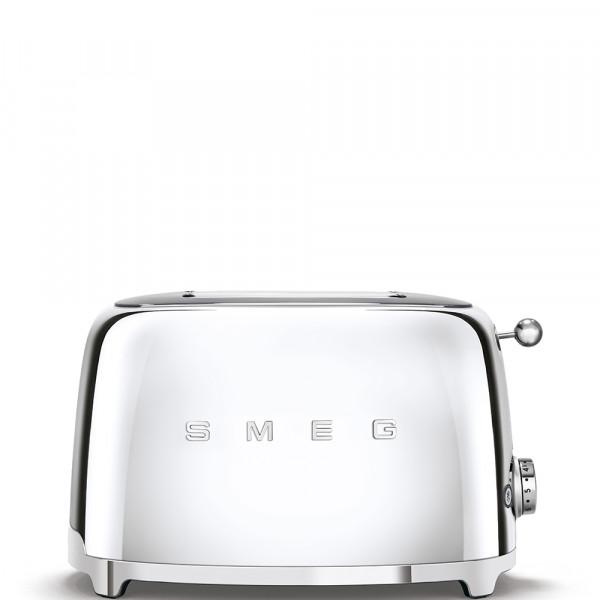 Smeg TSF01SSEU Tostadora 2 rebanadas, 6 niveles de tostado, 2x2 50' Style Cromo, 950W