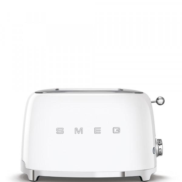 Smeg TSF01WHEU Tostadora 2 rebanadas, 6 niveles de tostado, 2x2 50' Style Blanco, 950W