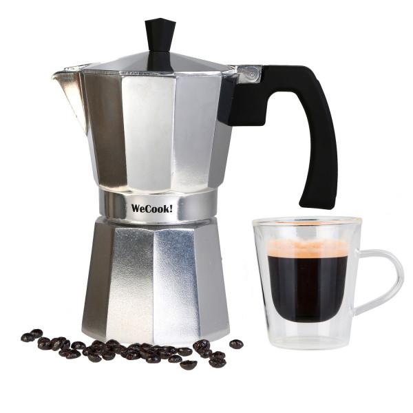 Wecook Paola Cafetera Italiana de aluminio express,6 tazas café