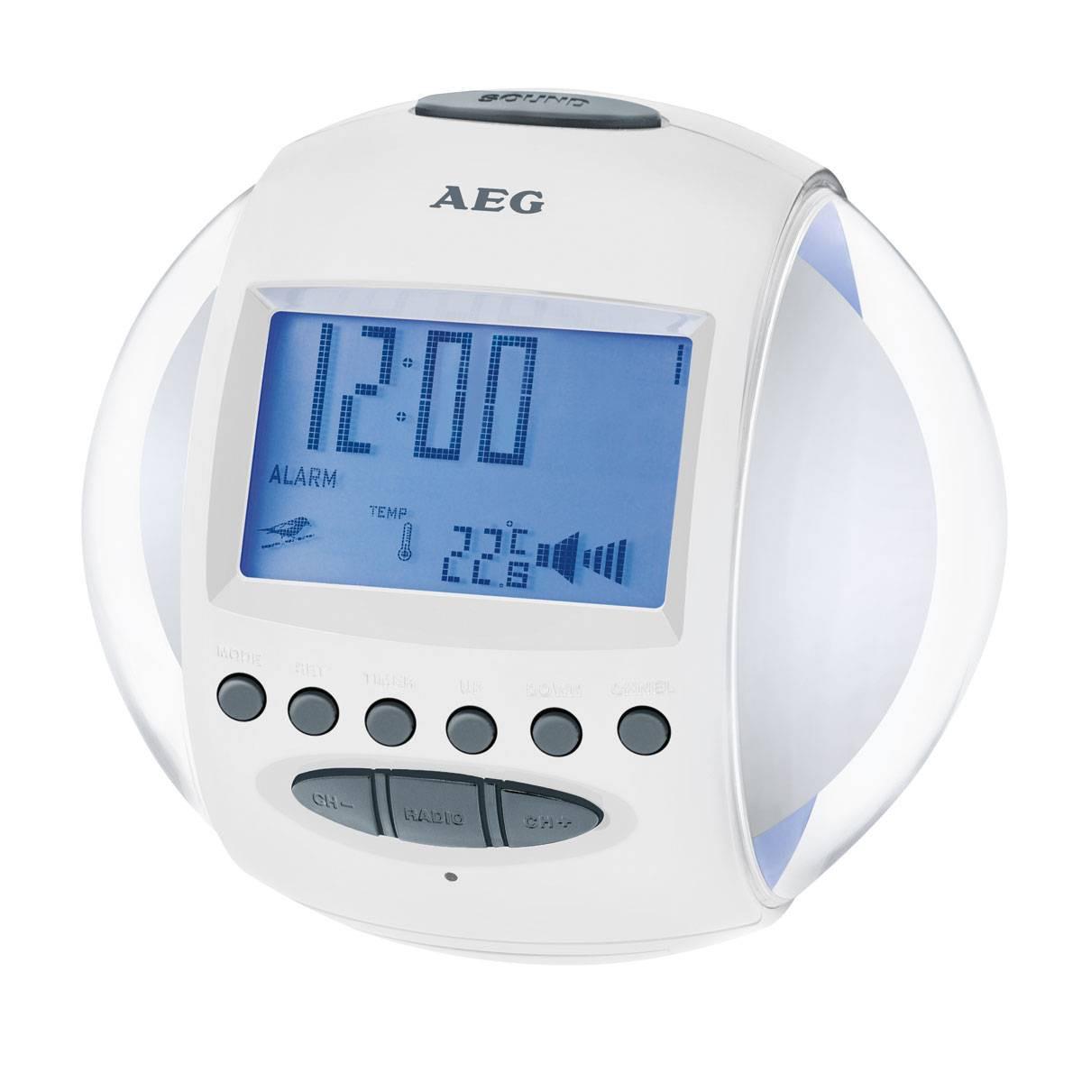 AEG Despertador MRC4117 Blanco