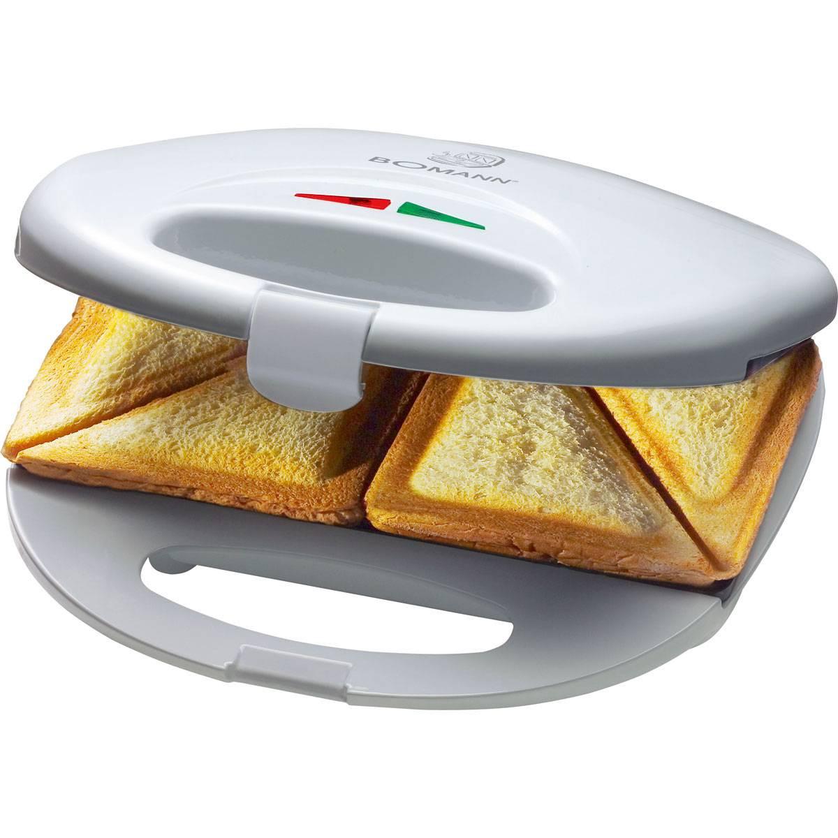 Bomann Sandwichera ST 5016 blanca