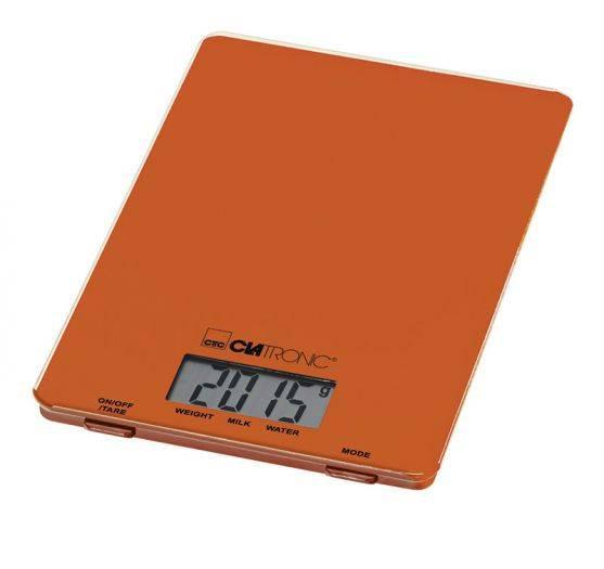 Clatronic Balanza Digital KW 3626 naranja