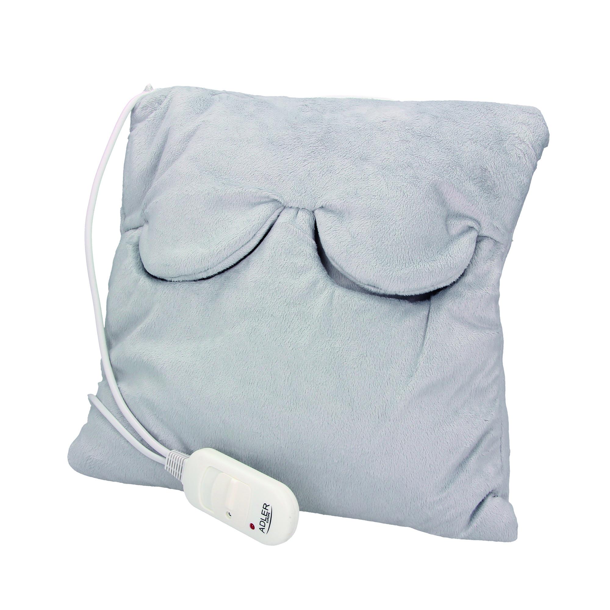ADLER AD7403 Cojín de Calor Eléctrico para Cervicales, Cuello, Espalda, Lumbar, Control de Temperatura con Mando, Lavable, 38 x 38 cm, 80W