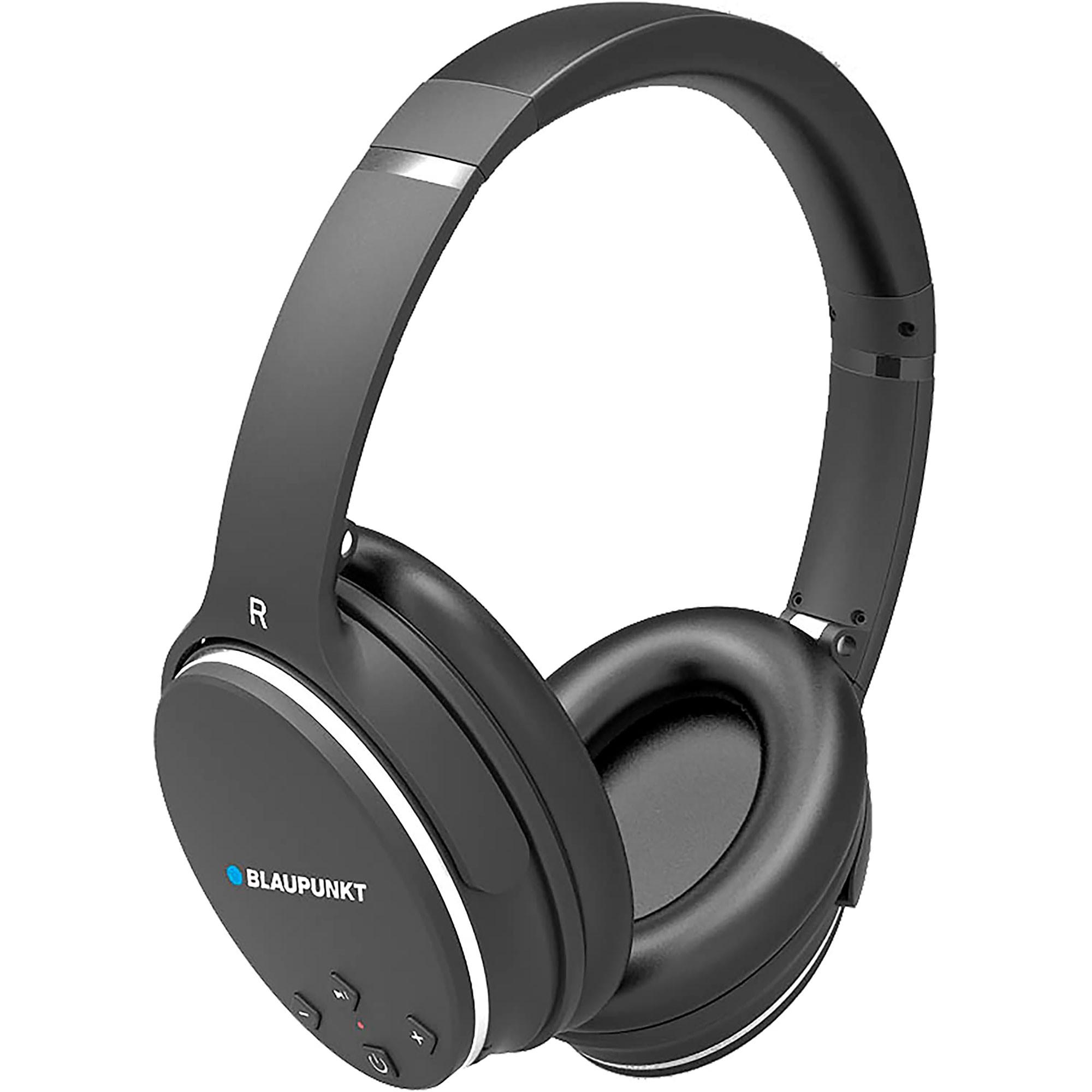 Blaupunkt BLP4400 Auriculares Bluetooth Inalámbricos de Diadema con Micrófono, Supresión de Ruidos, 9 horas de Autonomía, Negro