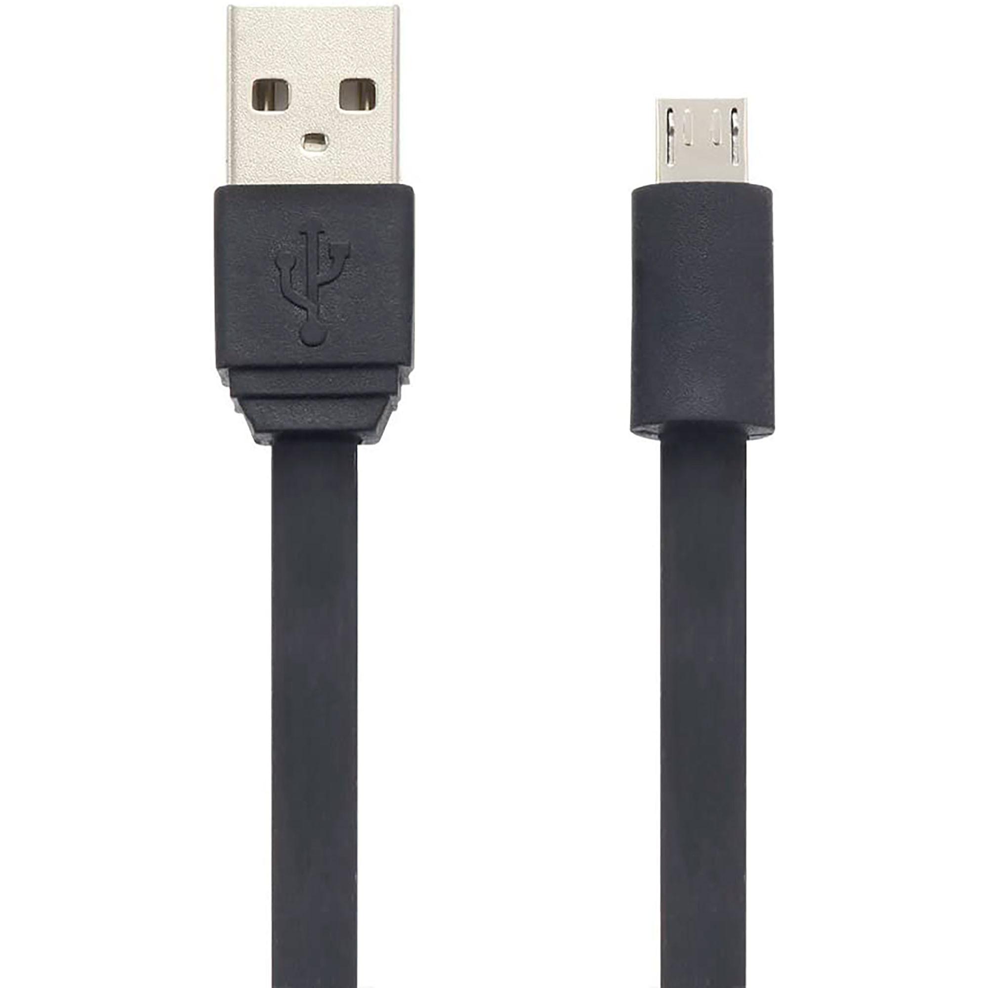 Blaupunkt BLP205.133 Cable Cargador Micro USB a Macho USB, Carga Rápida, 1,2m, Cable Alimentación Android, Negro