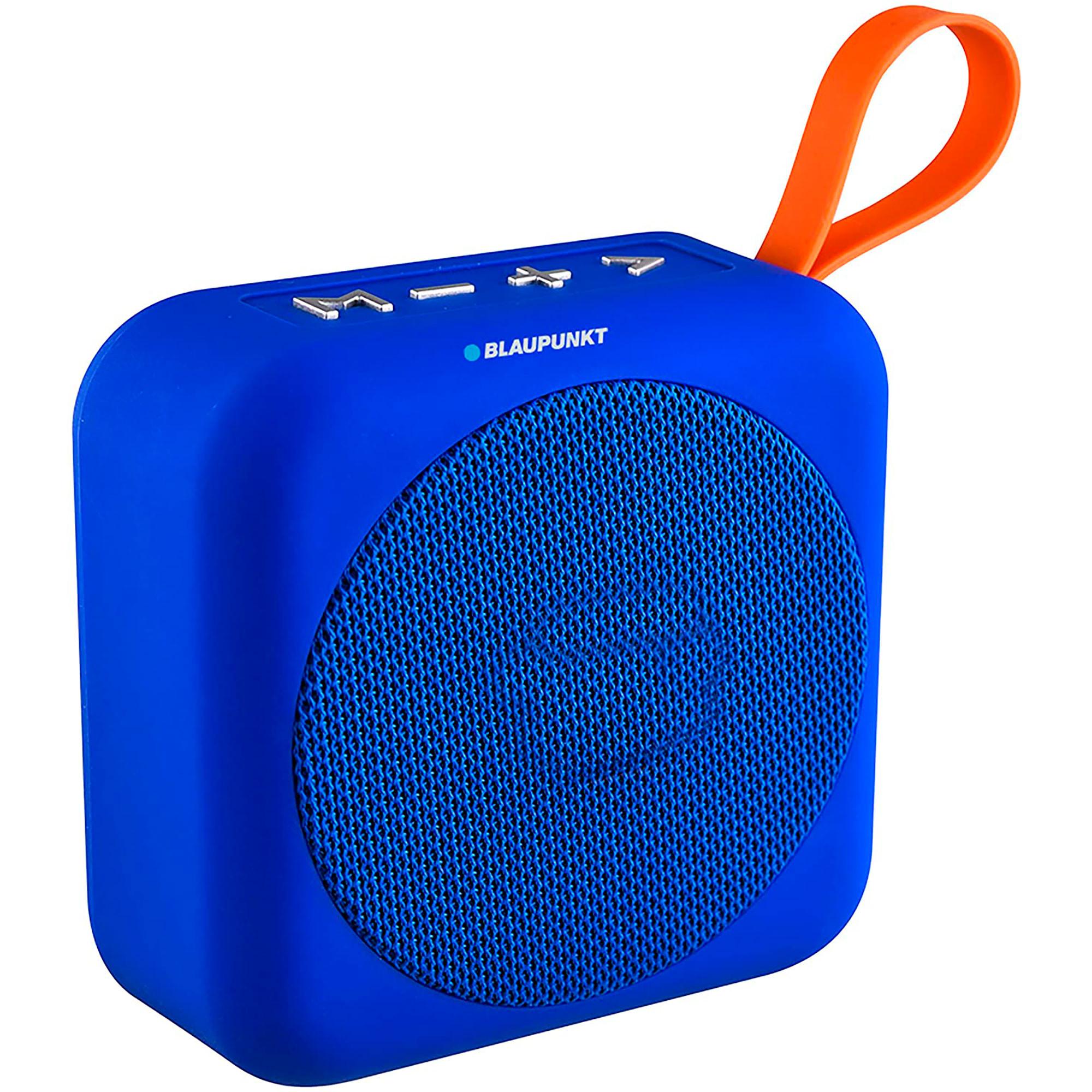 Blaupunkt BLP3610.182 Altavoz Bluetooth, Portátil, Potencia Sonido 3W, Subwoofer, Alcance 10m, USB, Micro-SD, Inalámbrico, Batería Recargable, Azul