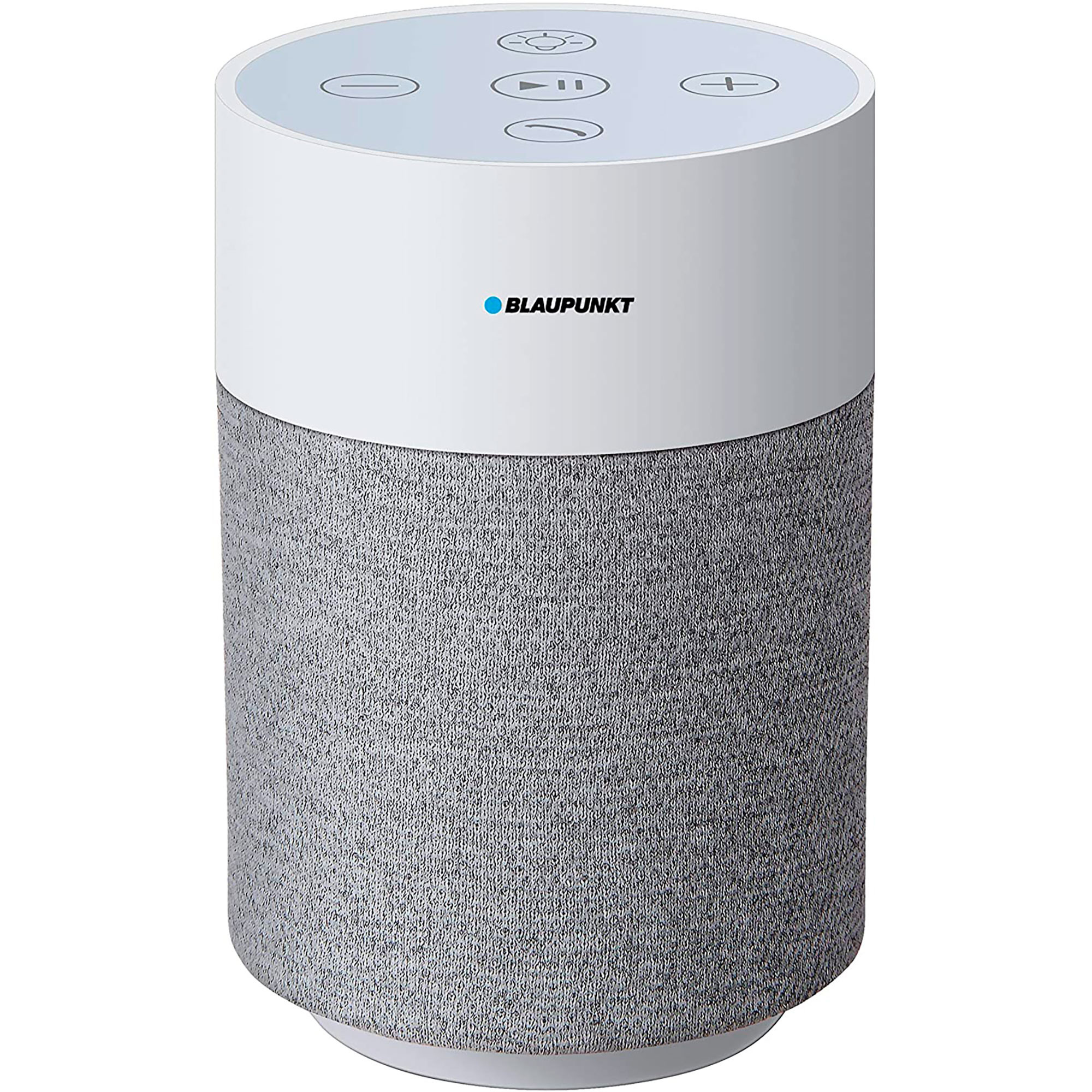 Blaupunkt BLP3830.112 Altavoz Bluetooth Portátil, Luz Led, Táctil, Micro SD, AUX, Potencia Sonido 5W, Blanco