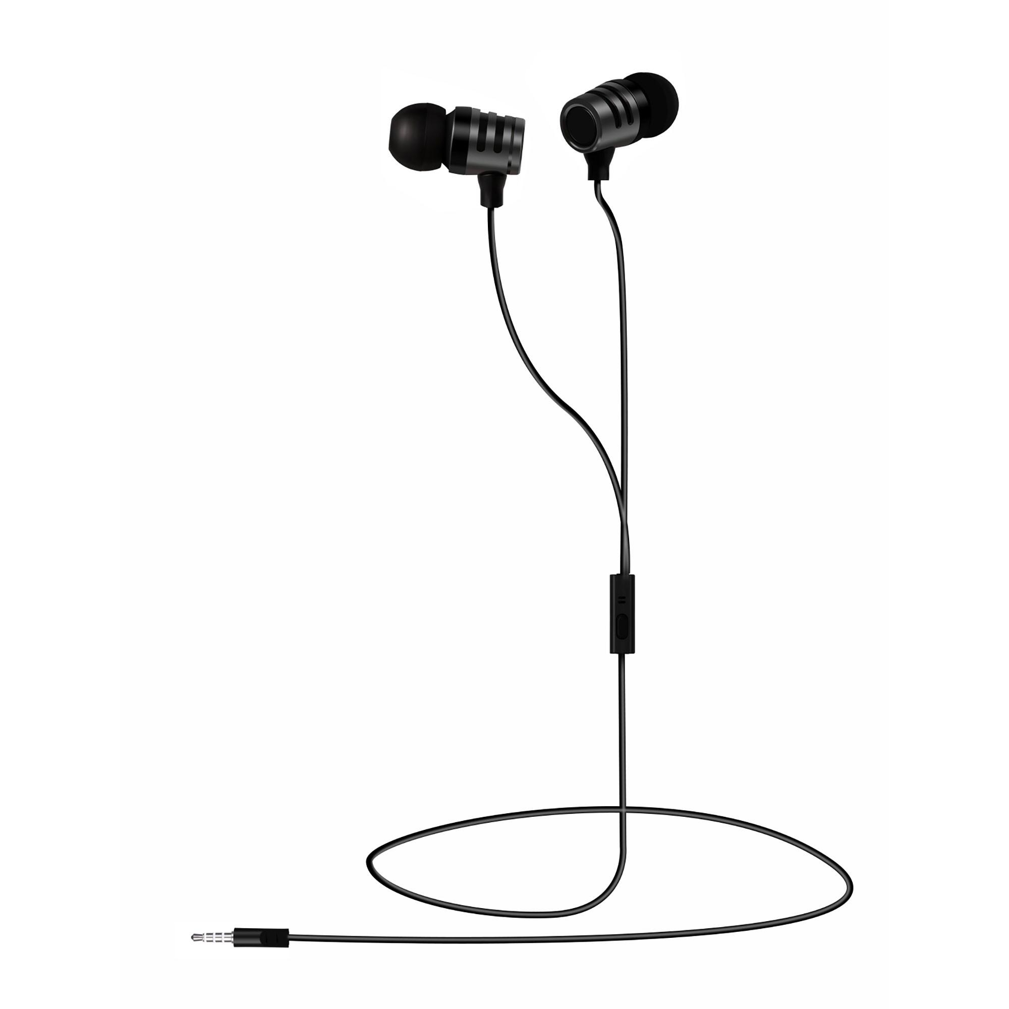Blaupunkt BLP4640 Auriculares con Cable, Manos Libres, Compatible con IOS y Android, Calidad de Sonido 5MW, Negro
