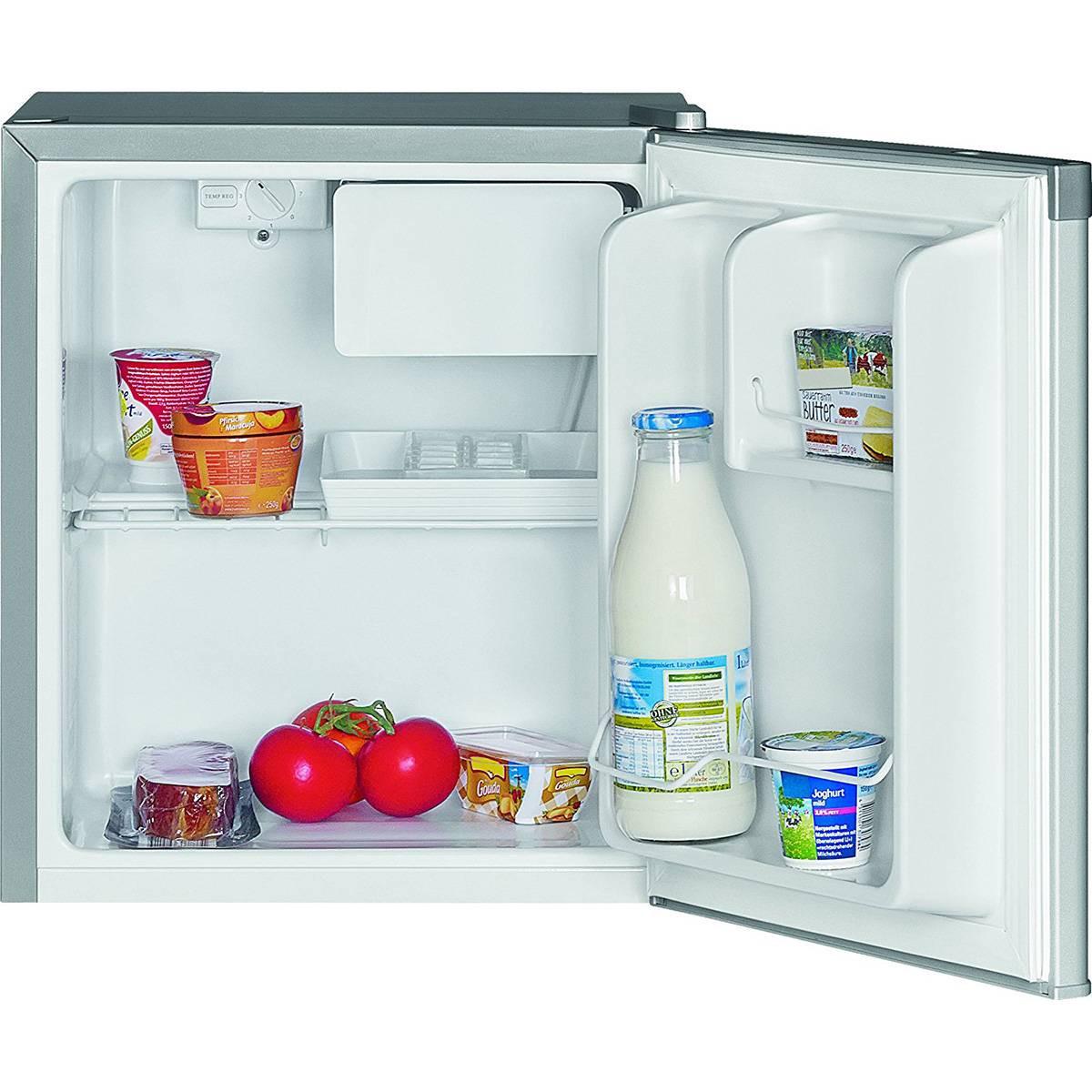 Bomann KB 389 - Mini bar nevera independiente con cogelador 42 litros, A++ , color plata