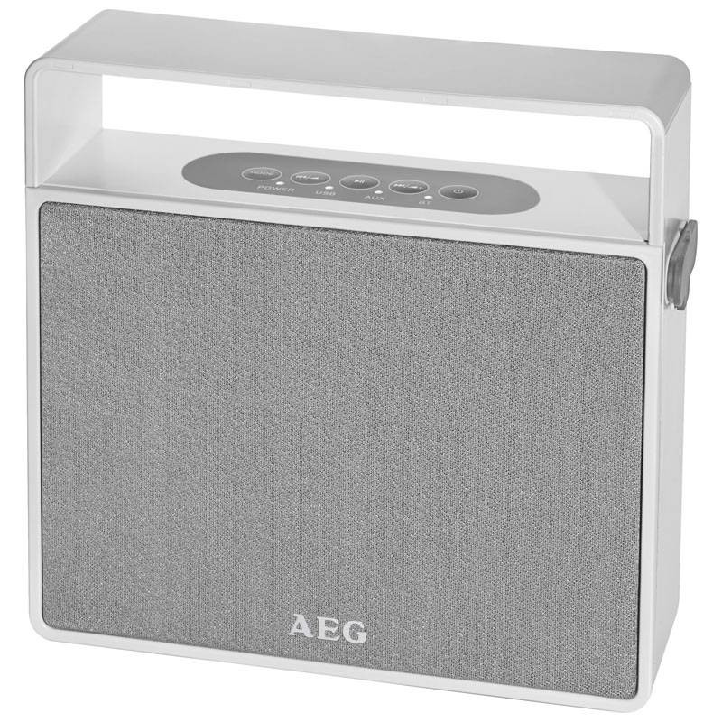 AEG Altavoz bluetooth/MP3/USB BSS 4830 Blanco