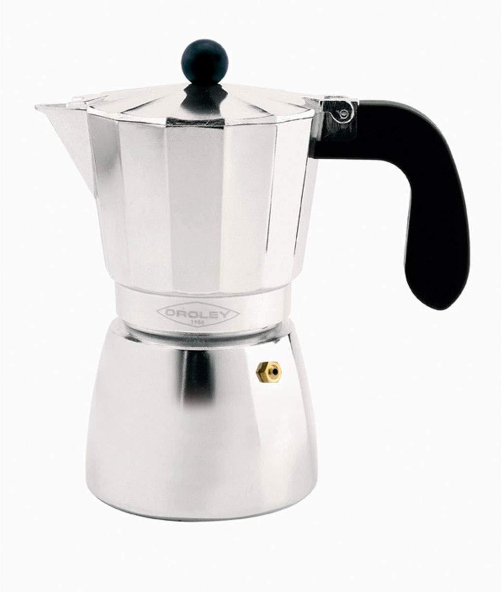 Oroley ALU Cafetera Italiana 6 Tazas aluminio para todo tipo de Cocinas menos inducción