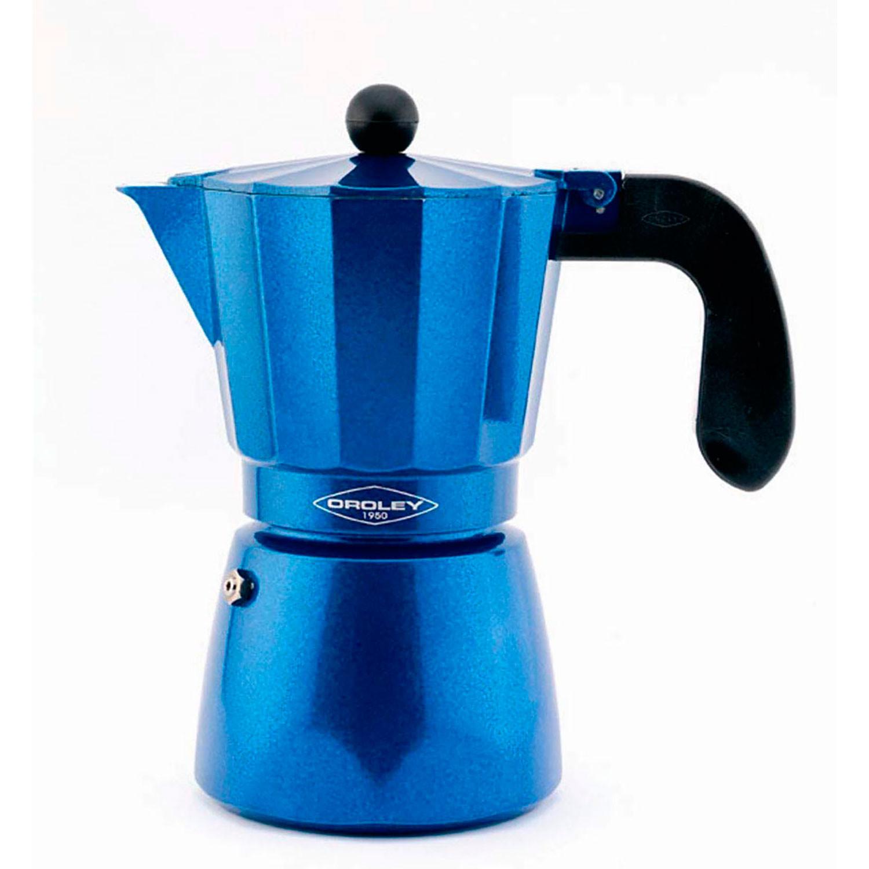 Oroley BLUE Cafetera Italiana Inducción 12 Tazas Base Acero Inoxidable para Todo tipo de Cocinas