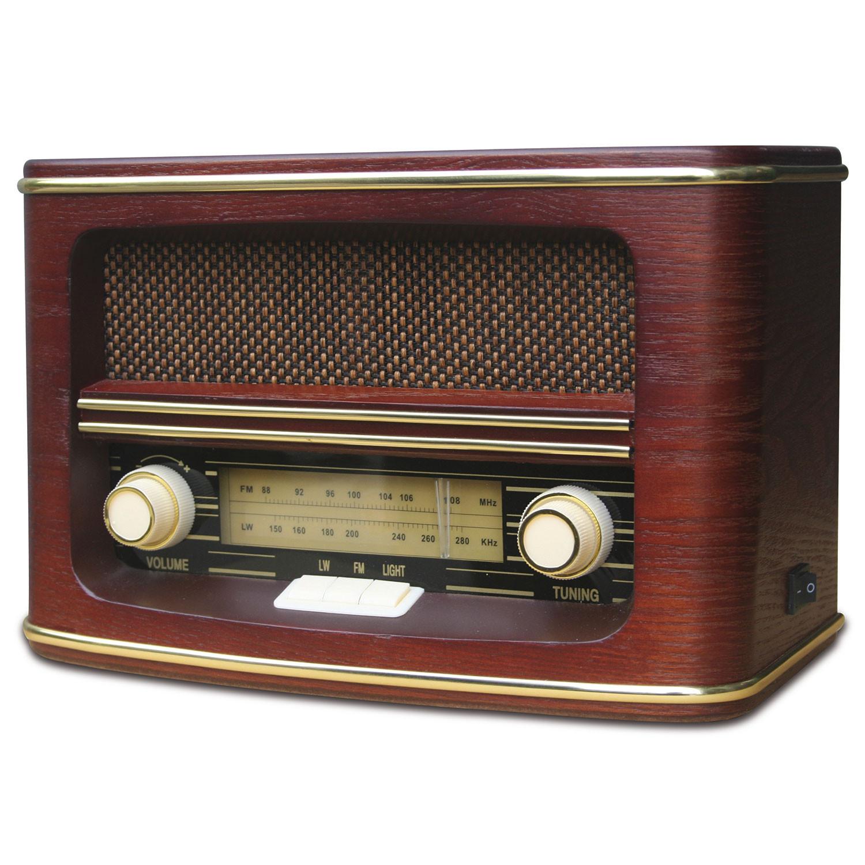Camry CR1103 Radio de Madera Retro Estilo Antigua Vintage Sintonizador de Radio Ondas FM / LW , Potencia 9W, Potencia Musical 1,5 W