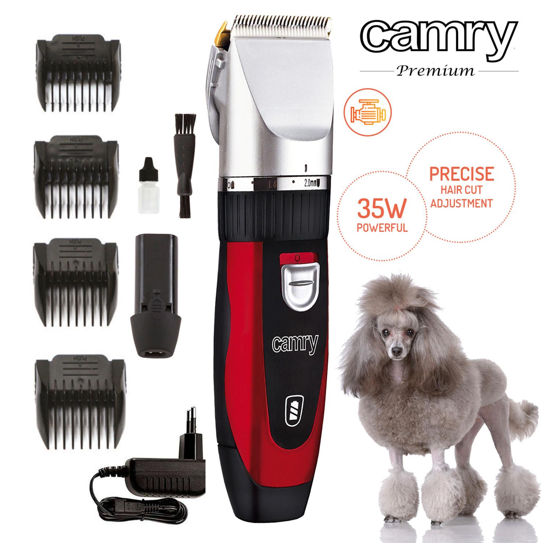 Camry CR 2821 Cortapelos para Macotas, Perros, Gatos, Profesional, cuhillas de titanio, inalámbrica 2 x bateria recargable