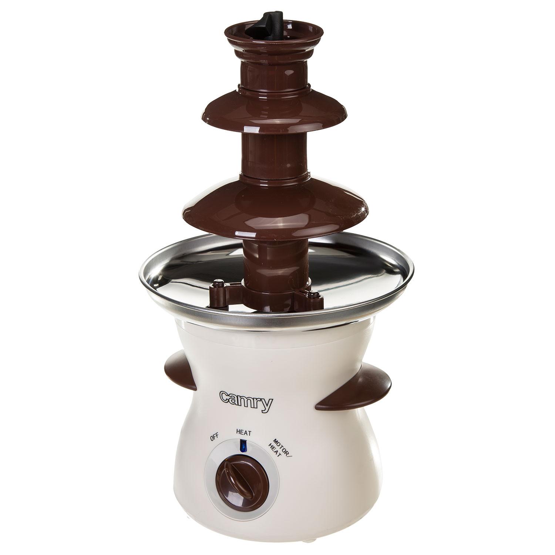 Camry CR4457 Fuente de Chocolate eléctrica, cascada de 3 niveles, capacidad 0,5 litros, 60ºC, 190W, blanca