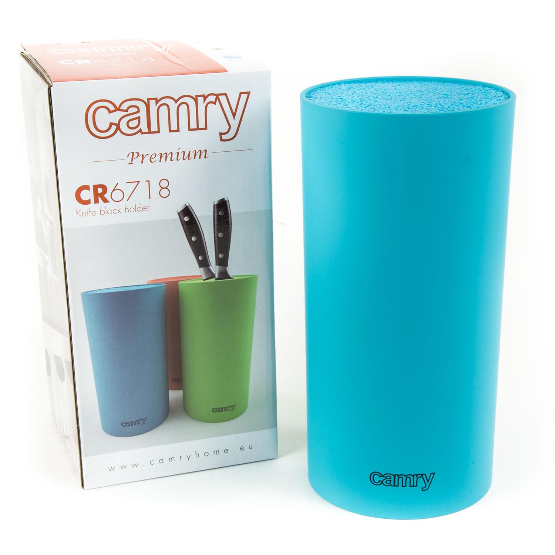 Camry CR6718A Tacoma Bloque para Cuchillos Cocina Universal, Soporte Cualquier Medida Cuchillo, Cuchillero Diseño, Azul