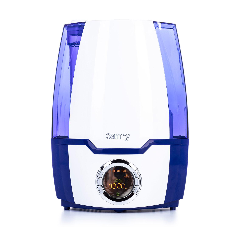Camry CR7952 Humidificador Ultrasónico Silencioso Ionización de Aire , 320 ml/h, Grande, 5,2 Litros, Filtro de Cerámica, 25 m², Ajuste de humedad, Temporizador, Programable
