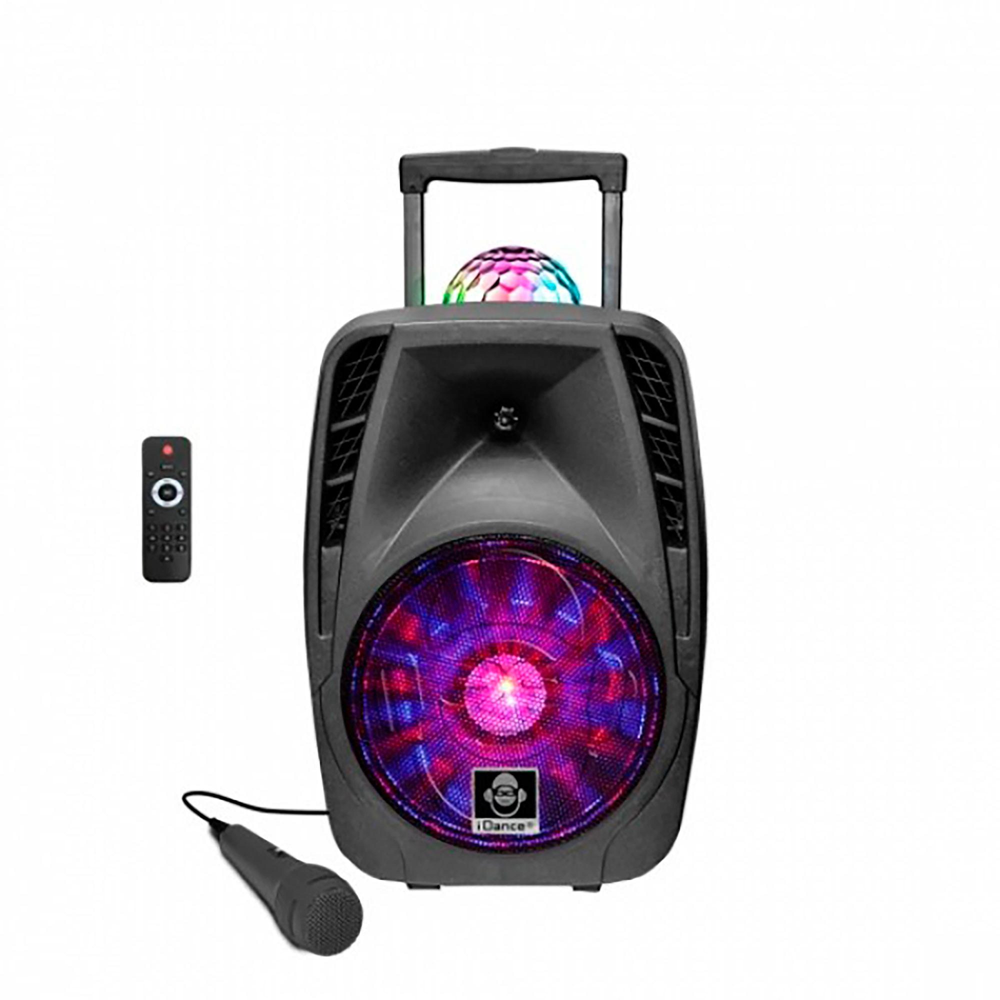 iDance Groove 426 Altavoz con Ruedas Tipo Maleta, Bluetooth, Iluminación LED Discoteca, Potencia de Sonido 500W, Inalámbrico, Batería Recargable, Negro