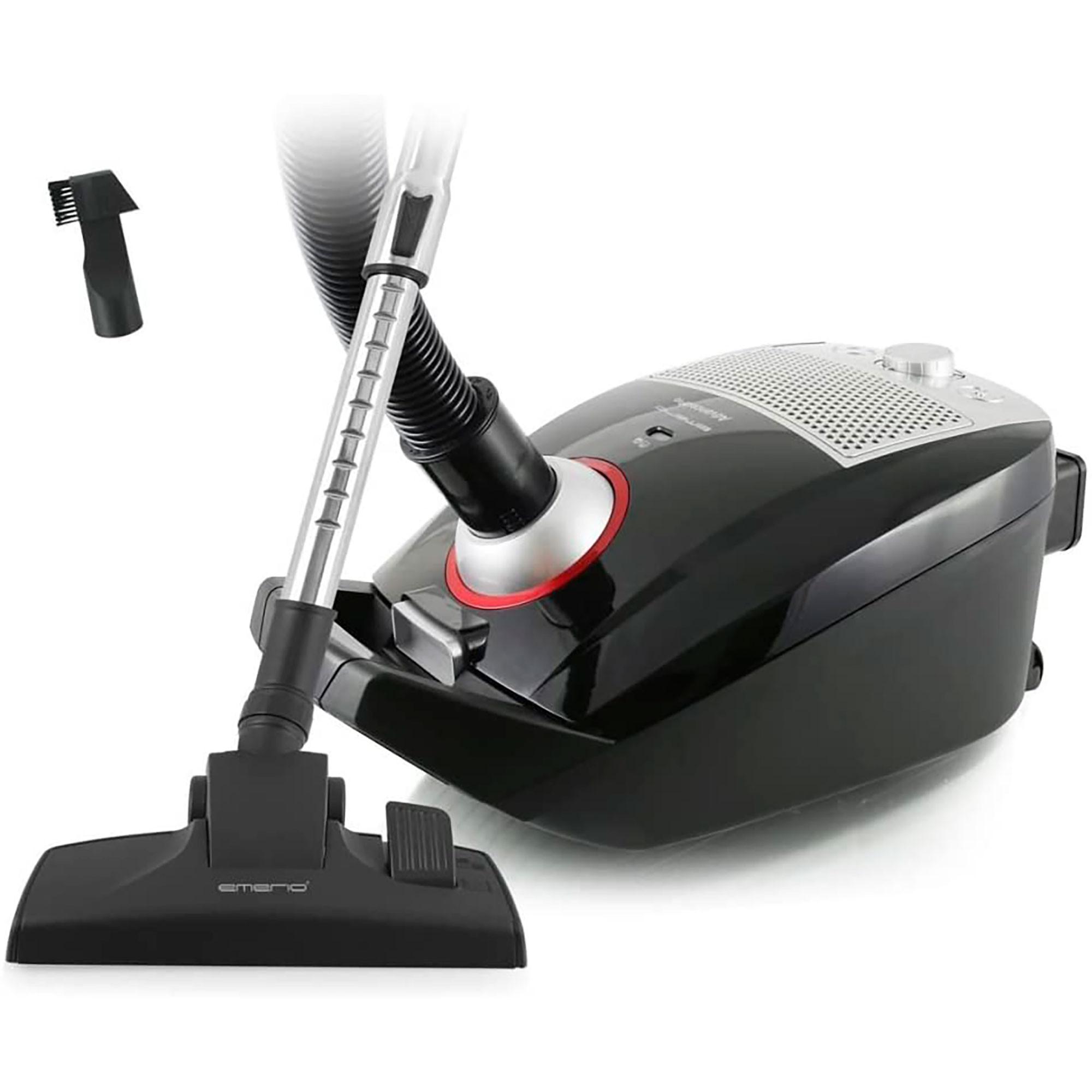 Emerio Eco VE108317.2 Aspiradora con Bolsa, Capacidad 3,5L, Filtro HEPA, Potente, 900W, Negra