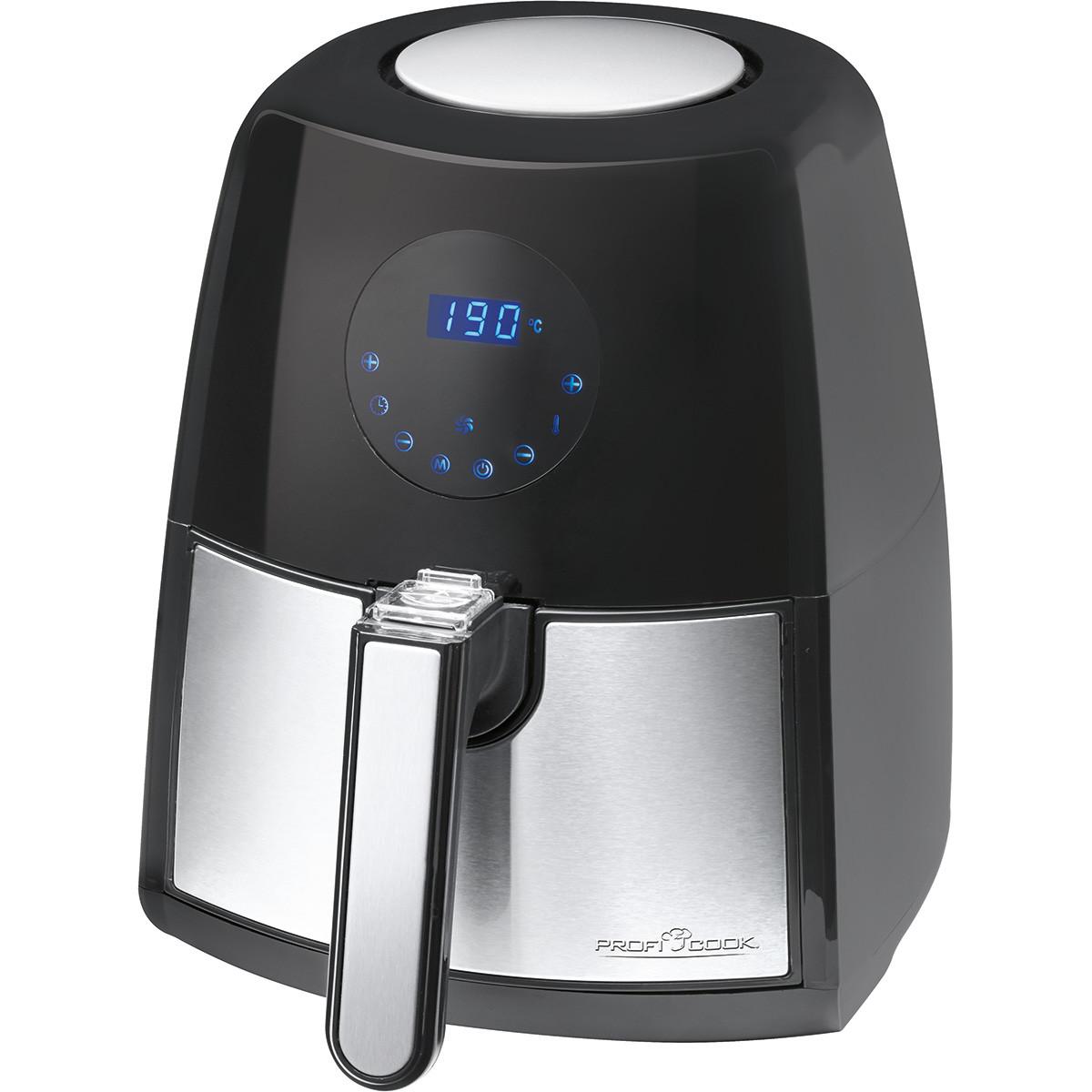 Proficook FR1147 - Freidora sin aceite por aire caliente, capacidad 2,5 l, termostato y temporizador 60 min, 1500W