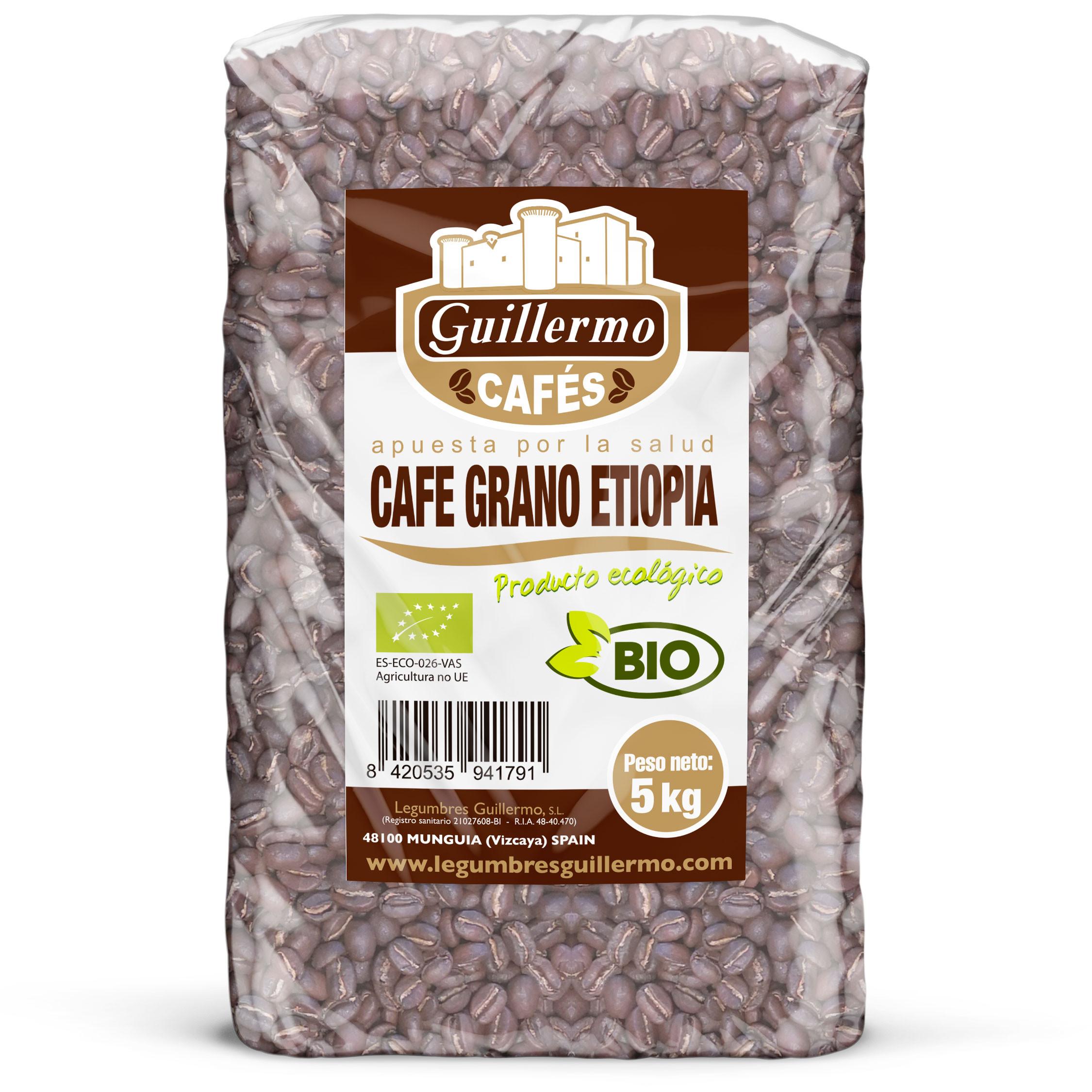 Guillermo Horeca Café grano Etiopía Ecológico BIO Granel 5kg
