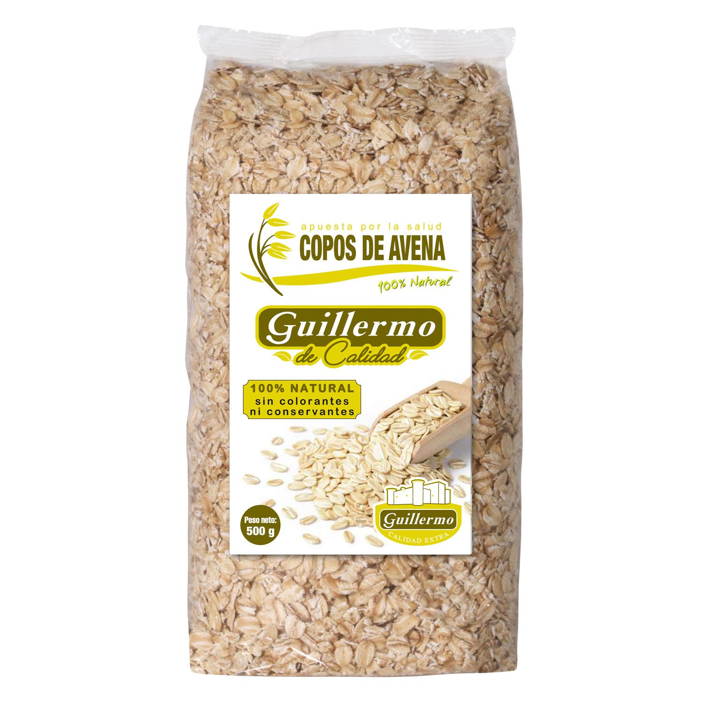 Guillermo Copos de Avena Tradicional Superalimento 100% Natural 500gr