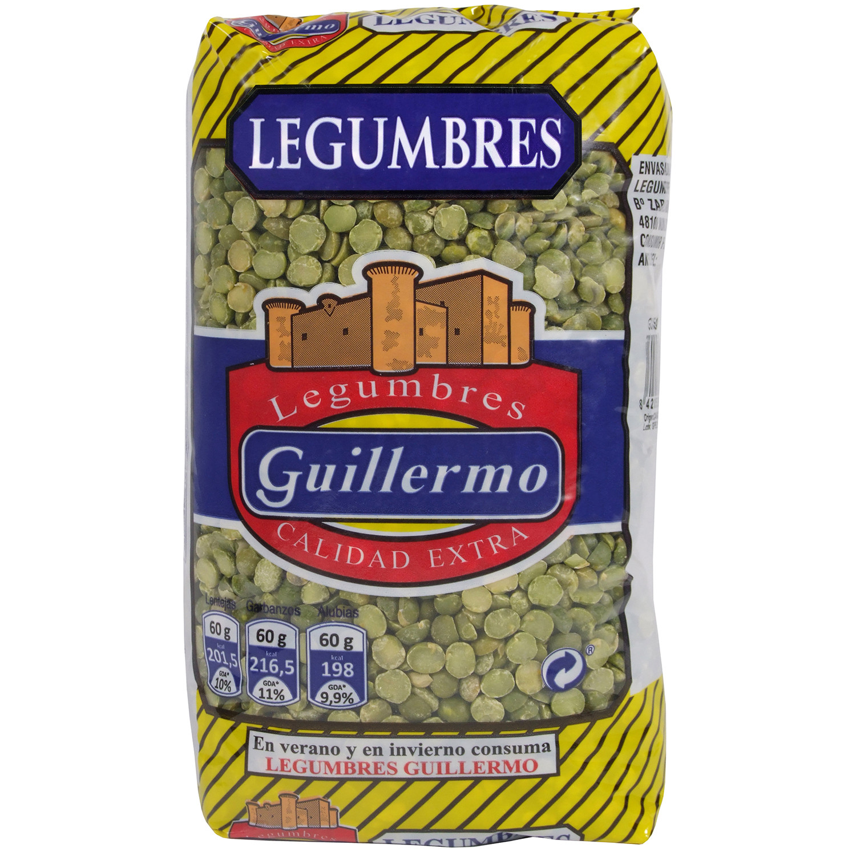 Guillermo Guisantes Pelados Legumbres Calidad Extra 1Kg