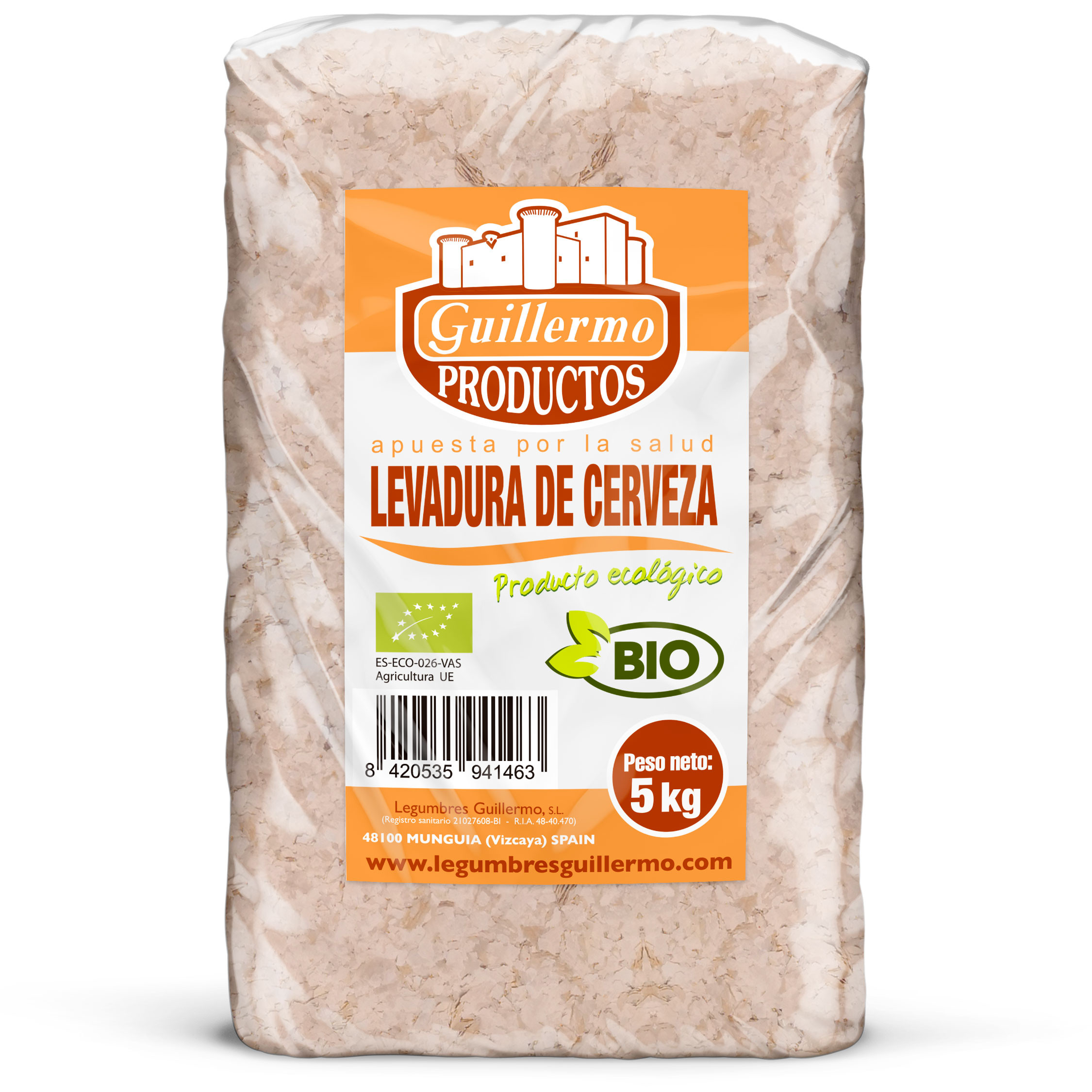 Guillermo Horeca Levadura de Cerveza Ecológica BIO Granel 5kg