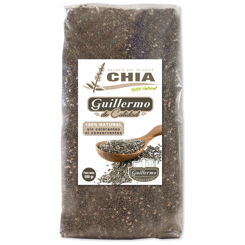 Guillermo Semillas de Chia 100% Natural 500gr sin conservantes ni colorantes