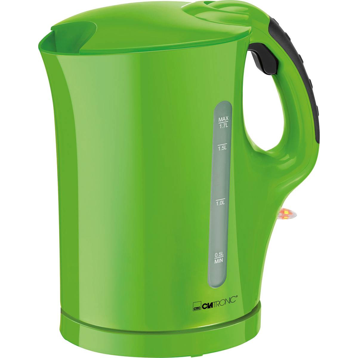 Clatronic WK 3445 - Hervidor de agua eléctrico, capacidad de 1,7 l, 2200 W, color verde