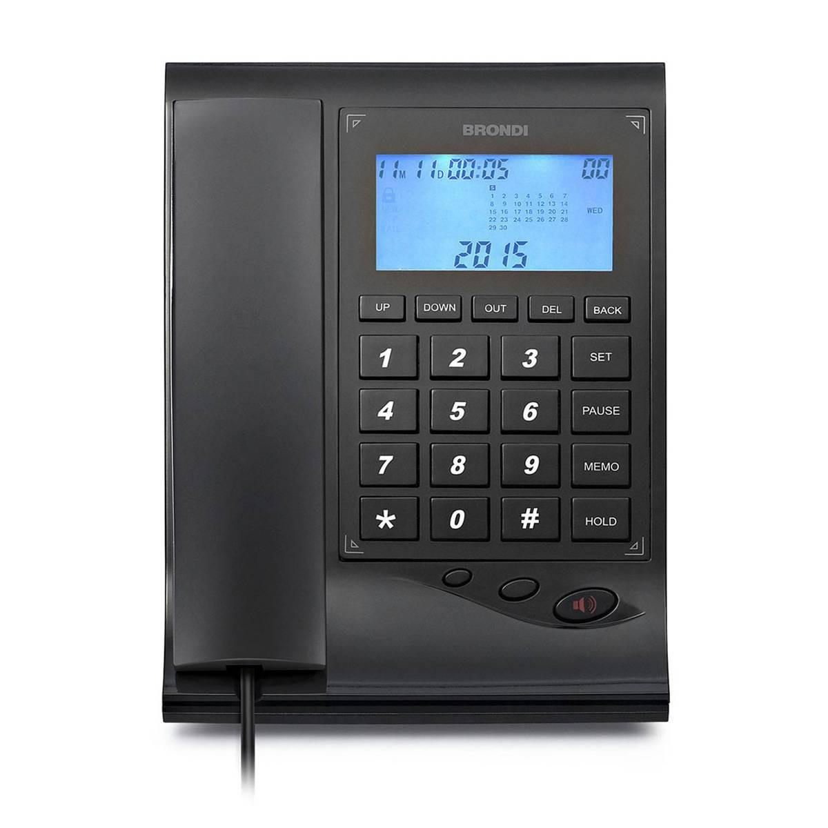 Brondi Teléfono fijo con display GILMOR negro