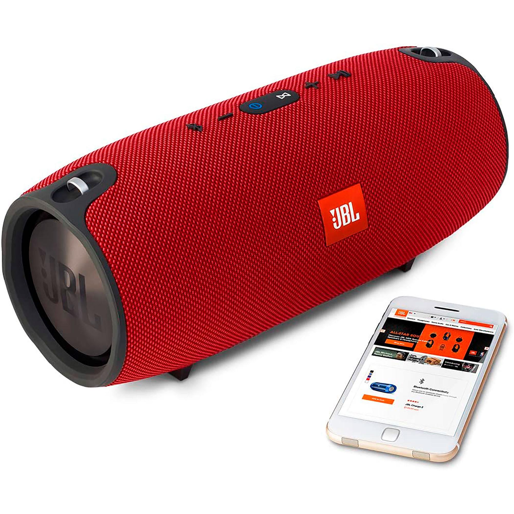 JBL Xtreme Altavoz Portátil, Bluetooth, Manos Libres, Potencia Sonido 40W, Impermeable, Inalámbrico, Rojo