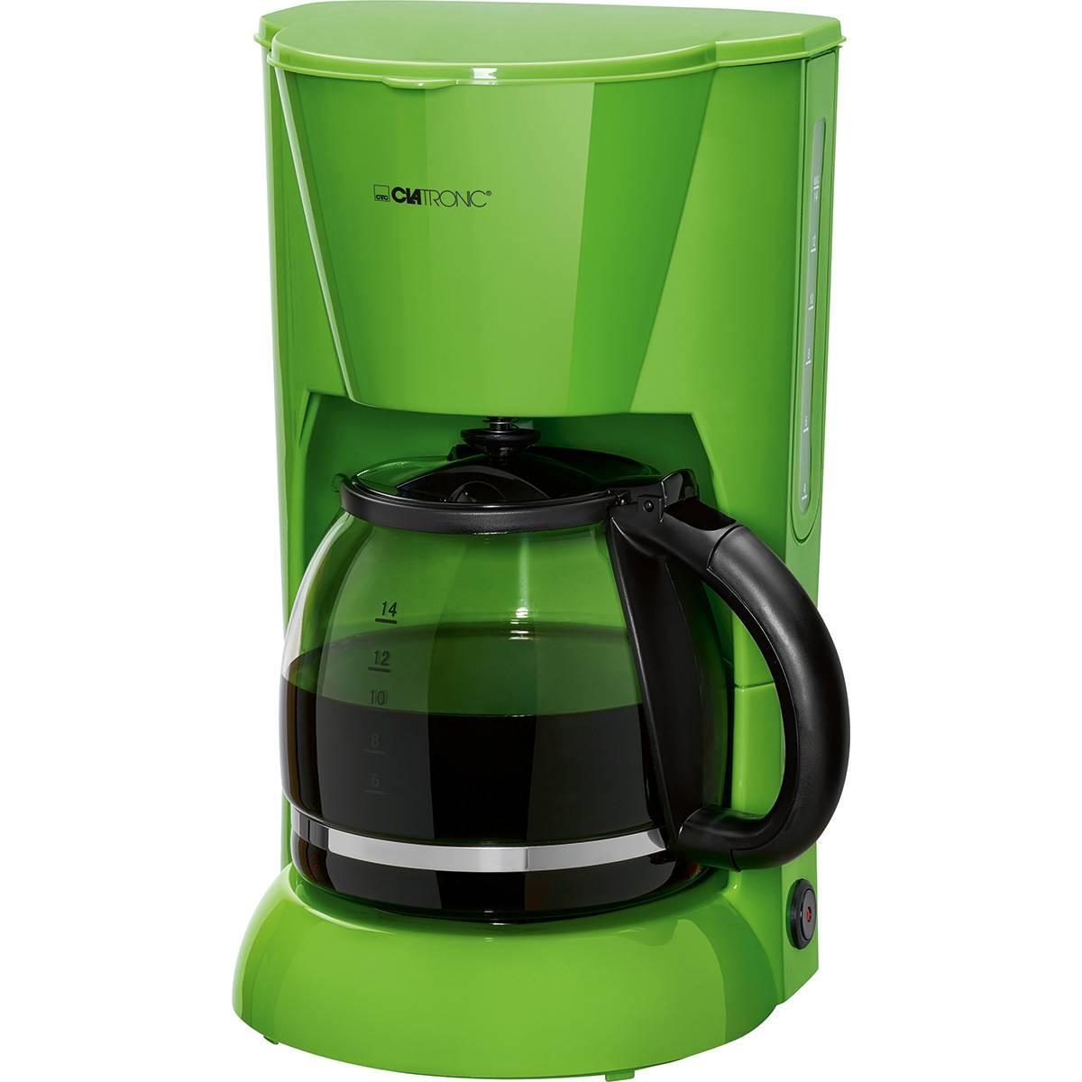 Clatronic KA 3473 - Cafetera de goteo, capacidad de 12 a 14 tazas 1,5 l, 900 W, color verde