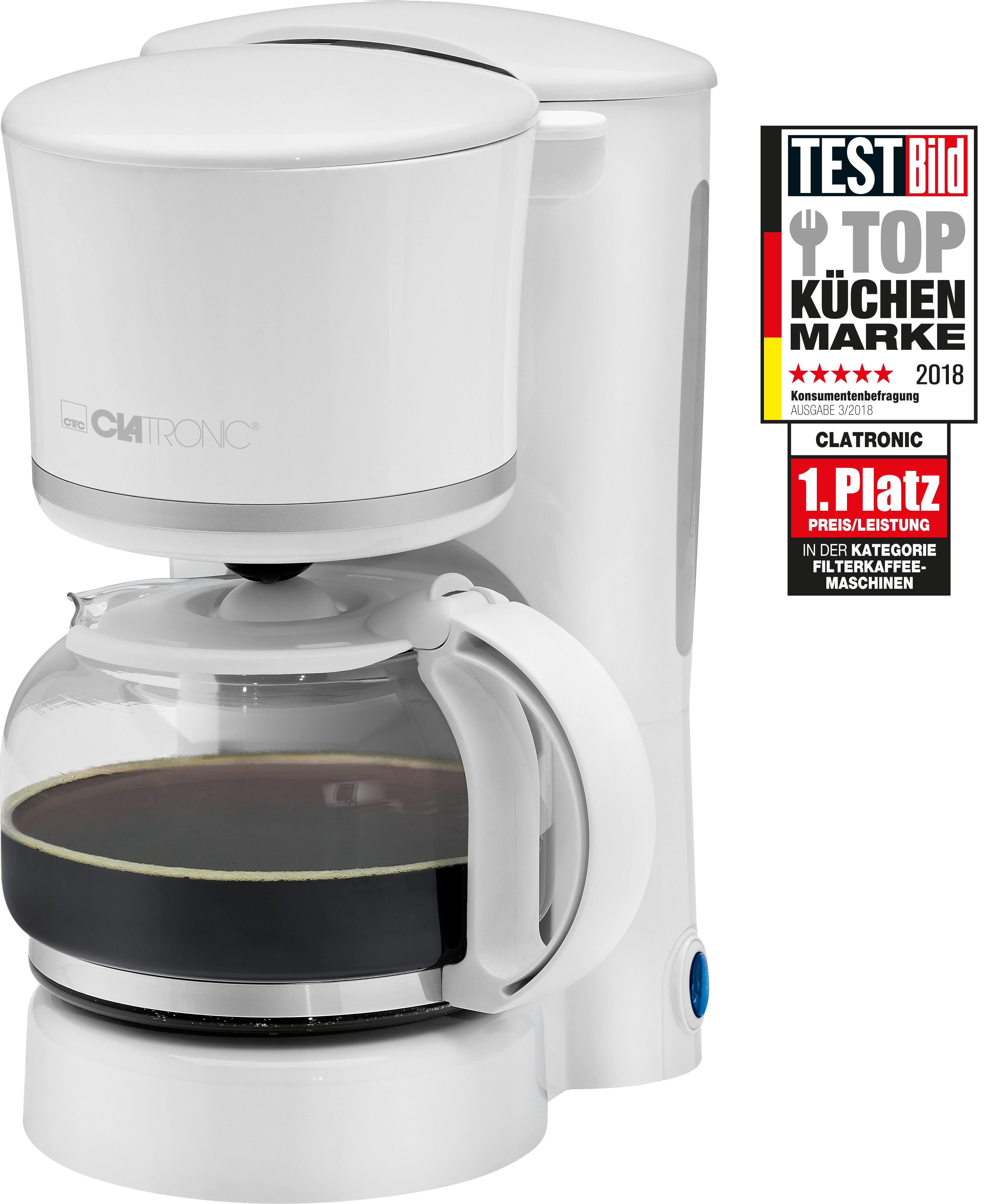 870 W color negro libre BPA funci/ón de mantenedora calor m/áquina caf/é de filtro capacidad 8 a 10 tazas 1,25 litros Cafetera el/éctrica de goteo autom/ática Bomann KA 1575