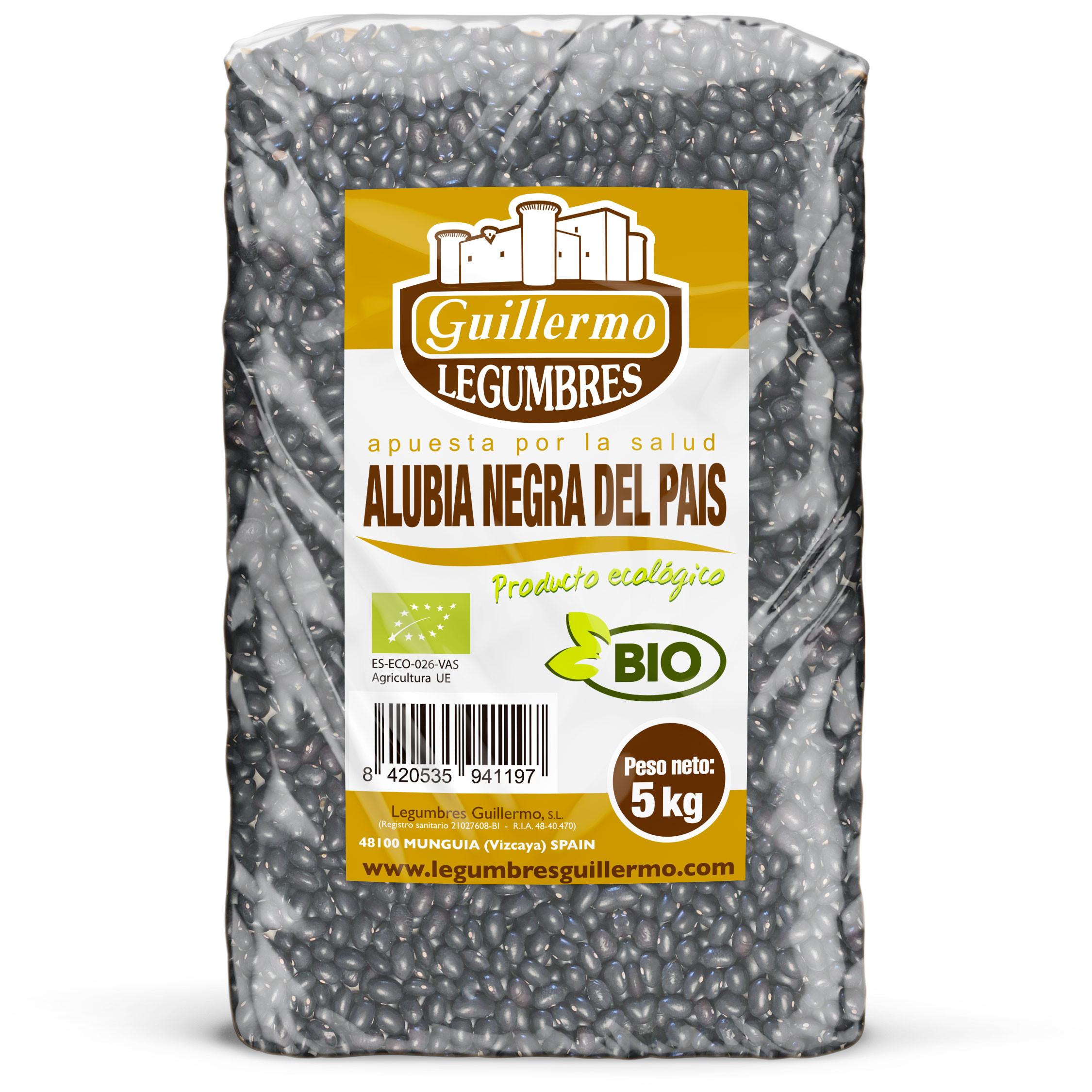 Guillermo Horeca Alubia Negra Pais Vasco Judía Ecológica BIO Granel Calidad Extra 5kg